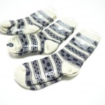 Buddy' Socks, Navy Pattern Printed Socks