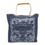 White Mountaineering x Porter Zimbabwe Heavy Canvas Denim Discharge Dyeing Print Tote Bag