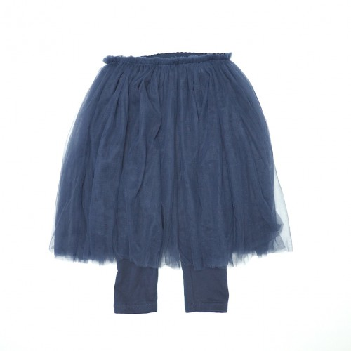 Vivienne Lee, Elastic Waist Organza Skirt with Legging