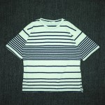 SHURRCCA, Linen Cotton Striped Tee (Navy)