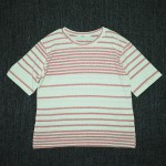 SHURRCCA, Linen Cotton Striped Tee (Pink)