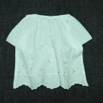 SHURRCCA, Cotton Voile Embroidered Top