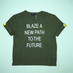 Comme CA ISM, Olive Color Message Tee