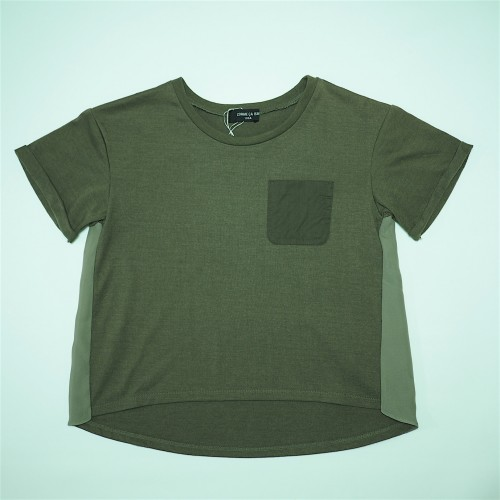 Comme CA ISM, Olive Color Pocket Tee