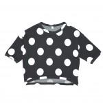 SHURRCCA, Printed Dots Black Sweatshirt
