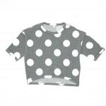 SHURRCCA, Printed Dots Grey Sweatshirt